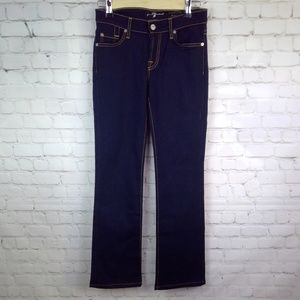 7 For All Mankind Dark Wash Skinny Boot Cut Jeans